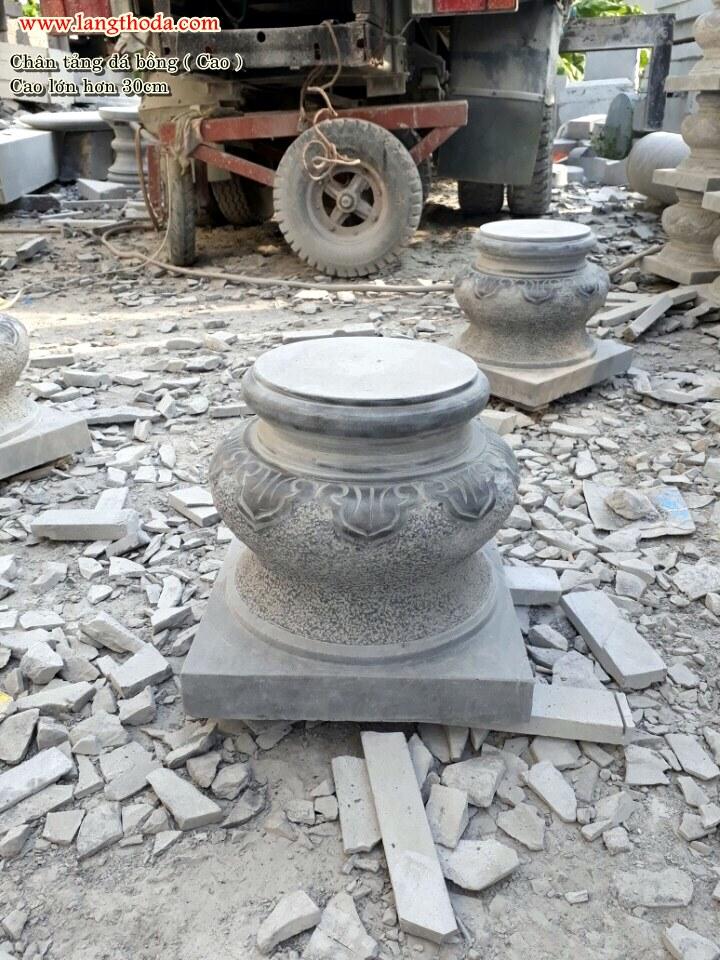 đá khối kê cột nhà sàn