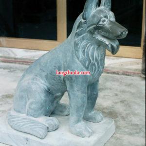 tượng chó đá đẹp